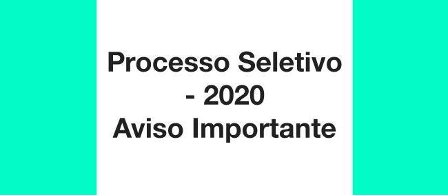 Calendário - Processo Seletivo 2020