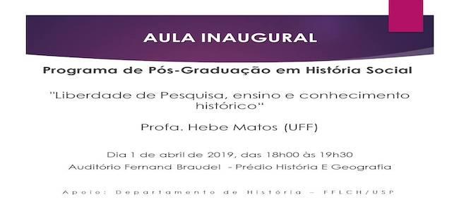 Aula Inaugural - 2019